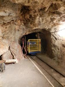 train in gold mine