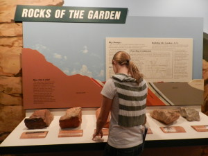 rocks of the garden exhibit